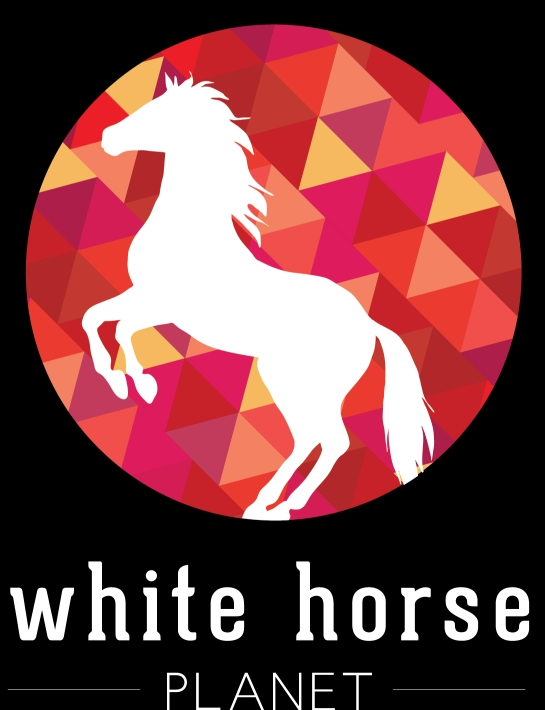the white horse planet logo, Copyright © 2014 Janet Taube / Melanie Taube
