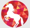 the white horse planet logo © 2014 Janet Taube / Melanie Taube
